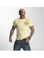 Yakuza t-shirt Killed By Fame geel