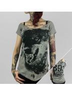 Yakuza T-Shirt Wolf grau