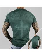 Yakuza T-Shirt Inked In Dark Blood green