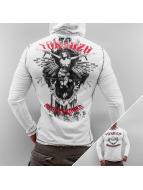 Yakuza T-Shirt manches longues Hooded blanc