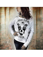 Yakuza T-Shirt manches longues Scared To Go Home blanc