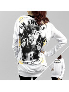 Yakuza T-Shirt manches longues An Angels Wide Crew blanc
