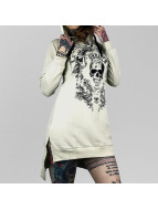Yakuza T-Shirt manches longues Skull Hooded blanc
