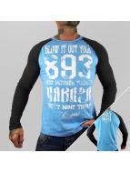 Yakuza T-Shirt manches longues Blow It Out bleu