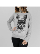 Yakuza T-Shirt manches longues Dead Bunny Wide Crew gris