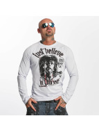 Yakuza T-Shirt manches longues Just Believe gris