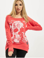 Yakuza T-Shirt manches longues Skull Script Two Face magenta