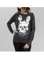 Yakuza T-Shirt manches longues Dead Bunny Wide Crew noir