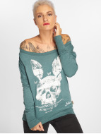 Yakuza T-Shirt manches longues Dead Bunny Wide Crew turquoise