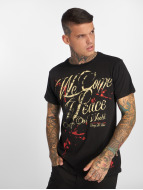 Yakuza T-Shirt We Come In Peace noir