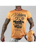 Yakuza T-Shirt L.A. Skull orange