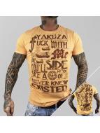 Yakuza t-shirt Fxck With Me oranje