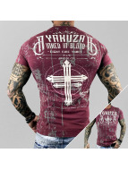 Yakuza T-Shirt Inked In Dark Blood pourpre