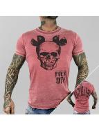 Yakuza t-shirt FxOff Burnout rood