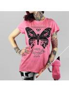 Yakuza T-Shirt Moth Limpid rosa