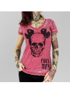 Yakuza T-Shirt FxOff Burnout rouge
