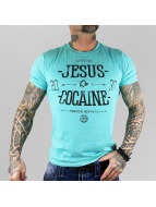 Yakuza T-Shirt Jesus Or Cocaine türkis