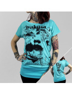 Yakuza T-Shirt Yakuza Fly Or Die Long Crew türkis