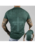 Yakuza T-Shirt Inked In Dark Blood vert