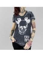 Yakuza t-shirt FxOff Burnout zwart