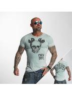 Yakuza T-shirtar FxOff Burnout blå