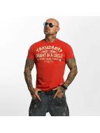 Yakuza T-shirts Caught In A Circle rød