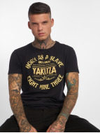 Yakuza T-Shirty Born As A Slave czarny