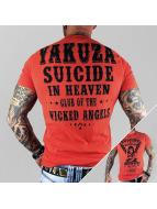 Yakuza T-Shirty Suicide In Heaven czerwony