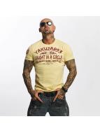 Yakuza T-skjorter Caught In A Circle gul