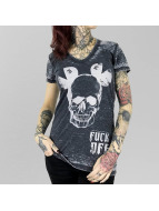 Yakuza T-skjorter FxOff Burnout svart
