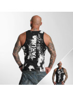 Yakuza Tank Top Allover Skull svart