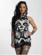 Yakuza Tank Tops Mexican Rose Hooded bianco