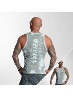 Yakuza Tank Tops Allover Skull blue