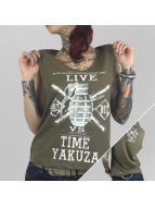 Yakuza Tank Tops Live Vs. Time olive