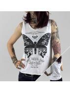 Yakuza Top Moth hvid
