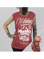 Yakuza Top L.A. Skull Cutted red