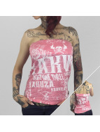 Yakuza Top 893 Allover Bandeau rosa