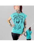 Yakuza Top Skull turquoise