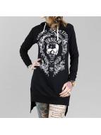 Yakuza Tričká dlhý rukáv Skull Hooded èierna