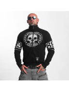 Yakuza Übergangsjacke Skull Label schwarz
