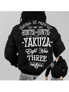 Yakuza Winterjacke Hunter And Hunted schwarz
