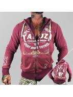 Yakuza Zip Hoodie Flying High èervená
