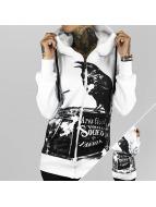 Yakuza Zip Hoodie Crow beyaz