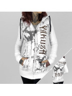 Yakuza Zip Hoodie Dark Side Long beyaz