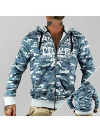 Yakuza Zip Hoodie Jesus Or Cocaine blue