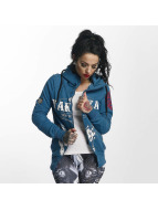 Yakuza Zip Hoodie Daily Skull High Neck blue