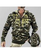 Yakuza Zip Hoodie Jesus Or Cocaine camouflage