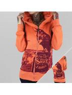 Yakuza Zip Hoodie Crow orange