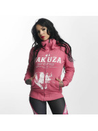 Yakuza Zip Hoodie Daily Skull High Neck pink