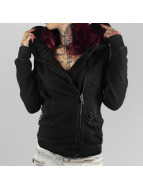 Yakuza Zip Hoodie Evaluation Biker schwarz